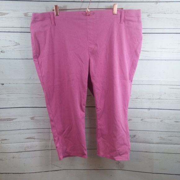 ad6e0d1cdbfe2 Faded Glory Pants - Faded Glory Pink Capri Jeggings Plus Size 4X 26 28